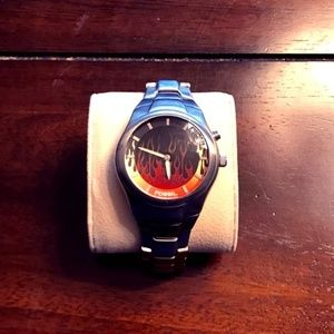 Fossil Flaming Animated Watch Stainless Steel Band